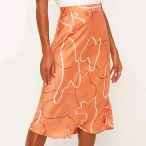 Lush Mauve cream midi skirt